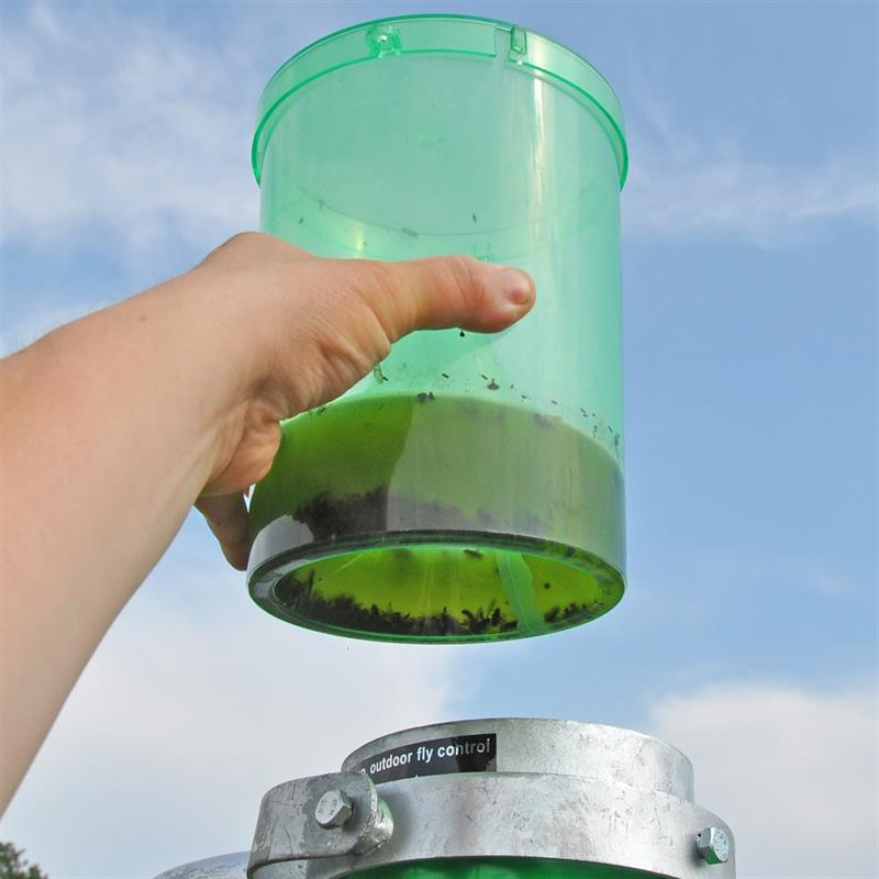 Hand Holding H-Trap Horsefly Trap Catch Chamber
