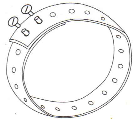 Fly Repellent Horse Collar Assembly Diagram 2