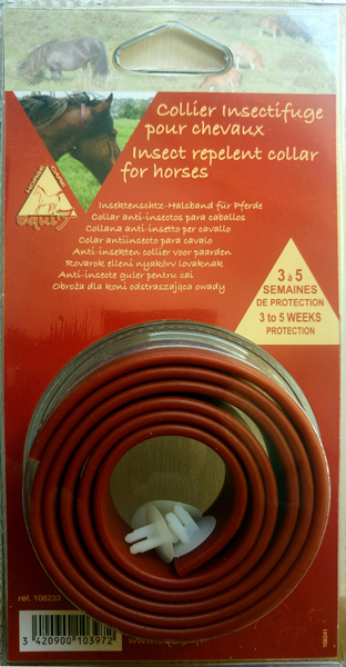 Single Pack Fly Repellent Horse Collar