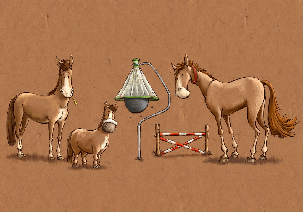 Illustration 3 Horses H-Trap Horsefly Trap and Hurdle