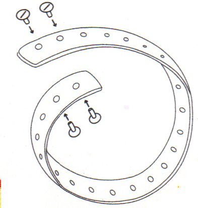 Fly Repellent Horse Collar Assembly Diagram 1
