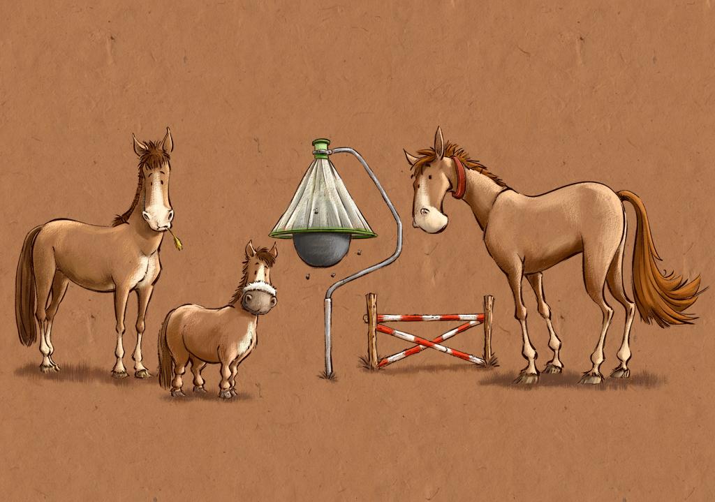 Illustration 3 Horses H-Trap Horsefly Trap and Hurdle